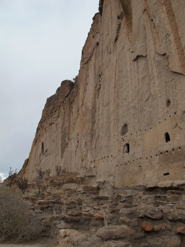 Bandelier cliffs