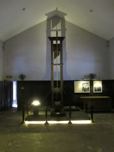 Execution room, very much French-style with the guillotine