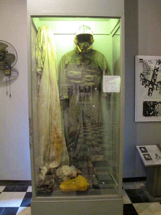 John McCain's pilot suit in Hoa Lo museum
