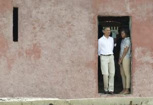 Obama on Goree Island