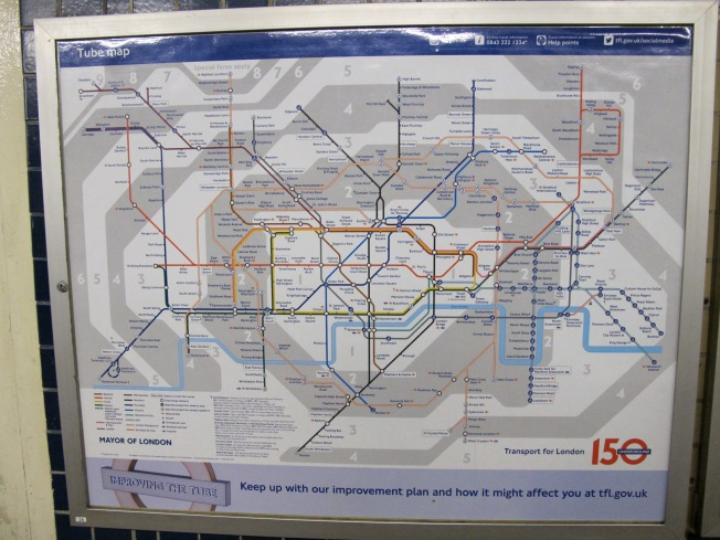 Map of London's Tube
