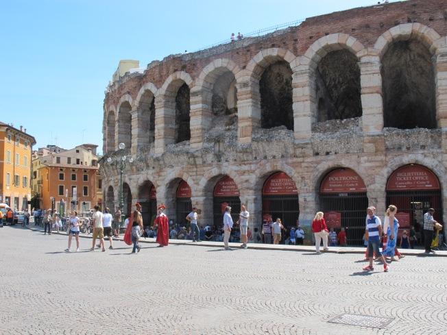 Verona's Arena viewed from Piazza Bra