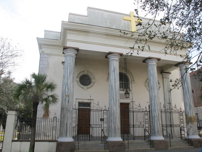 St. Mary's Catholic Church (89 Hasell St), the first Roman Catholic Church in the Carolinas